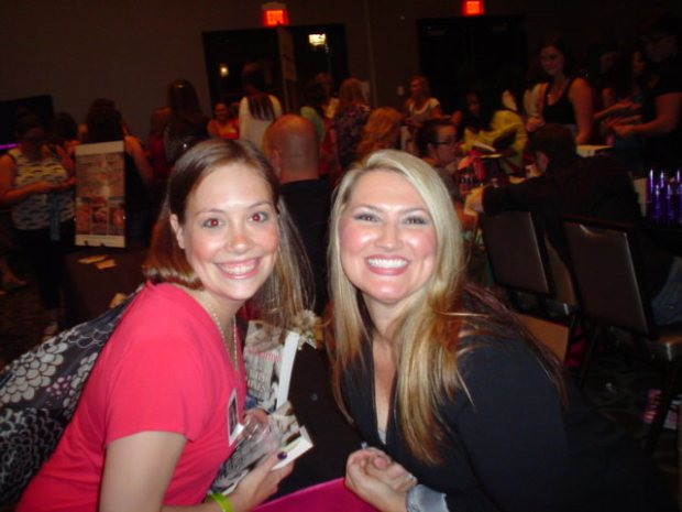 Jenn and Michelle at the Naughty Mafia Book Signing.